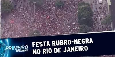 Flamengo celebra título da Libertadores com multidão rubro-negra no Rio
