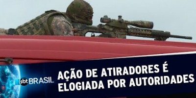 Ação de atiradores de elite é elogiada por autoridades | SBT Brasil (20/08/19)