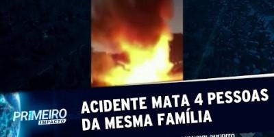 VÍDEO - Acidente em rodovia de SP mata 4 pessoas da mesma família carbonizadas |...