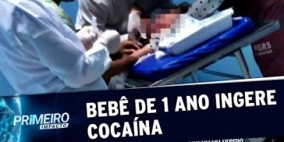 Bebê de 1 ano ingere cocaína deixada em área comum de prédio | Primeiro Impacto...