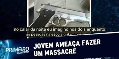 Estudante ameaça fazer um massacre em escola de Minas Gerais | Primeiro Impacto...