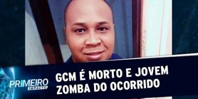 GCM é morto com tira na cabeça e jovem zomba do crime na internet | Primeiro Impacto...