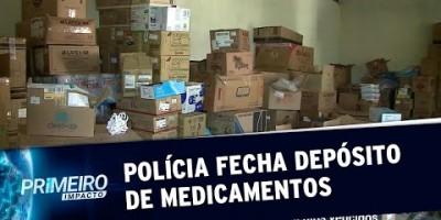 Polícia fecha depósito clandestino de medicamentos no interior de SP | Primeiro Impacto...