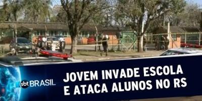 Jovem invade escola e ataca alunos com machadinha no RS | SBT Brasil (21/08/19)