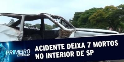 Acidente grave mata 7 pessoas da mesma família no interior de SP | Primeiro Impacto...
