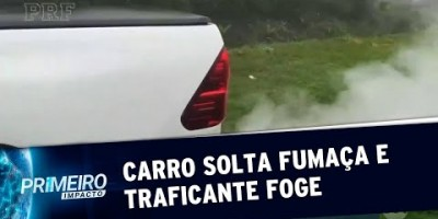 Traficante faz carro soltar fumaça em perseguição e foge da polícia | Primeiro...