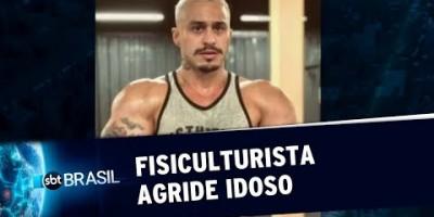Fisiculturista agride idoso após acidente de trânsito no RJ | SBT Brasil (23/08/19)