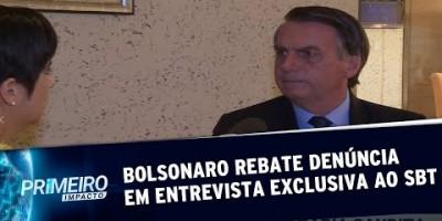 Jair Bolsonaro rebate denúncia em entrevista exclusiva ao SBT | Primeiro Impacto...