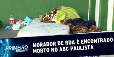 Morador de rua é encontrado morto no ABC Paulista | Primeiro Impacto (08/07/19)