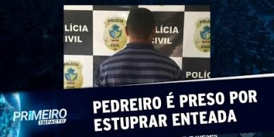 VÍDEO - Pedreiro suspeito de violentar enteada de 10 anos é preso em GO | Primeiro...