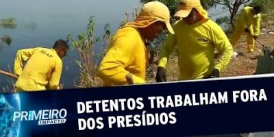 Com monitoramento, detentos trabalham em obras públicas de Manaus (16/08/19)
