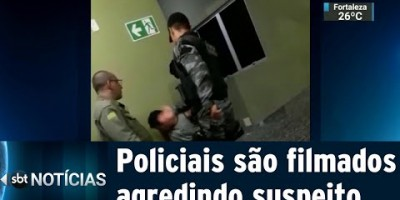 Policiais são flagrados agredindo suspeito algemado em delegacia | SBT Notícias