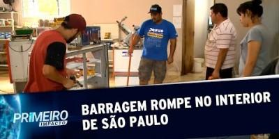 Barragem rompe e alaga casas e comércios em Piedade, SP | Primeiro Impacto (10/01/20)