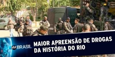 Polícia do Rio faz maior apreensão de drogas da história | SBT Brasil (18/07/19)