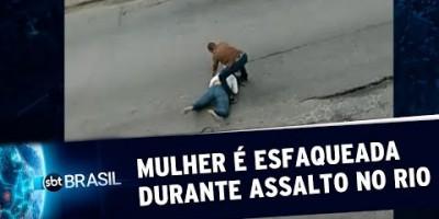 Mulher é esfaqueada durante assalto no Rio de Janeiro | SBT Brasil (21/08/19)