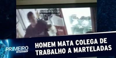 Câmeras flagram momento em que homem mata rapaz a marteladas | Primeiro Impacto...