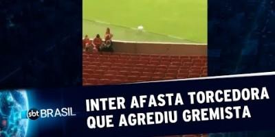 Internacional afasta torcedora que agrediu gremista | SBT Brasil (22/07/19)