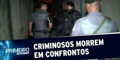 Quatro criminosos morrem durante confrontos com policiais em SP | Primeiro Impacto...