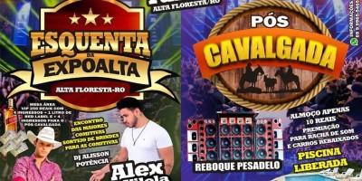 ESQUENTA DA EXPOALTA (28-07) e PÓS CAVALGADA (29-07)