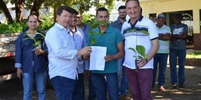 Rolim de Moura: Agricultores familiares recebem mudas de Café Clonal