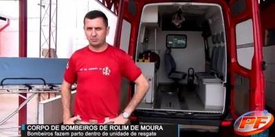 Parto é realizado dentro da viatura do Corpo de Bombeiro no Bairro Cidade Alta em Rolim...