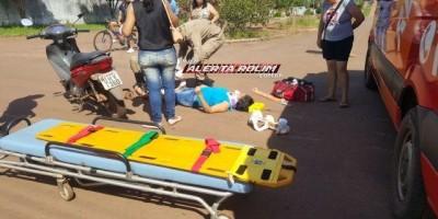 Rolim de Moura - Motociclista inabilitado bate em Biz ocupada por duas irmãs, se evade...