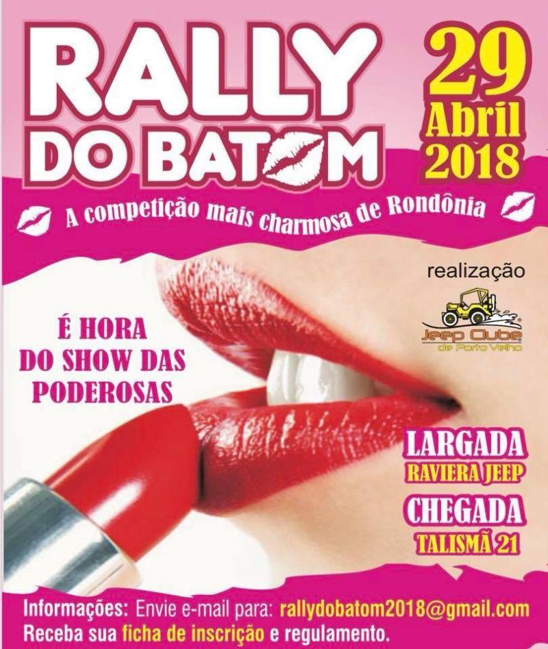 Será neste domingo o Rally do Batom, a competição mais charmosa de Rondônia
