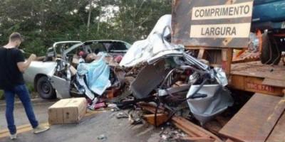 Casal vilhenense sofre grave acidente na BR-364 e mulher morre