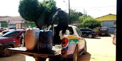 CLANDESTINA: Homem é preso vendendo gasolina por R$ 10 no Rio Madeira