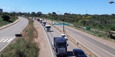 Comboio de caminhoneiros chega a Porto Velho