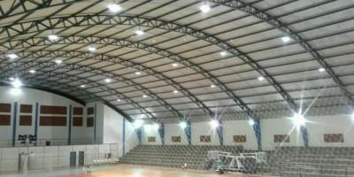 Nova Brasilândia: Prefeitura recupera iluminação do Ginásio Poliesportivo