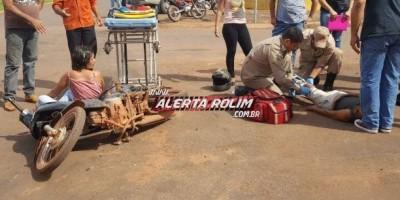 Rolim de Moura - Mãe e filha ficam feridas ao serem atingidas por carro no Centro da...
