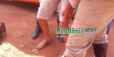 Rolim de Moura-Motociclista sofre queda após passar em buraco na Avenida São Paulo...