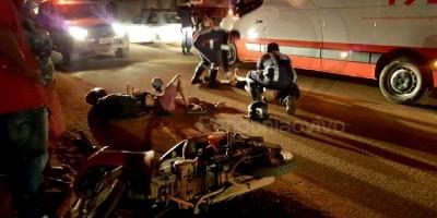 Violenta colisão entre carro e moto deixa dois feridos na zona Leste de Porto Velho