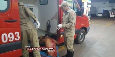 Rolim de Moura - Morador de rua é esfaqueado nas costas e pede socorro em posto de...