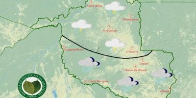 Sipam prevê nova frente fria a partir desta quarta no Cone Sul e em todo o Estado na...