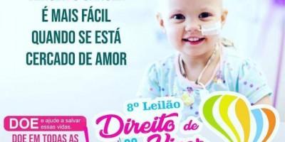 8º Leilão Direito de Viver é neste domingo, 22, em Rolim de Moura