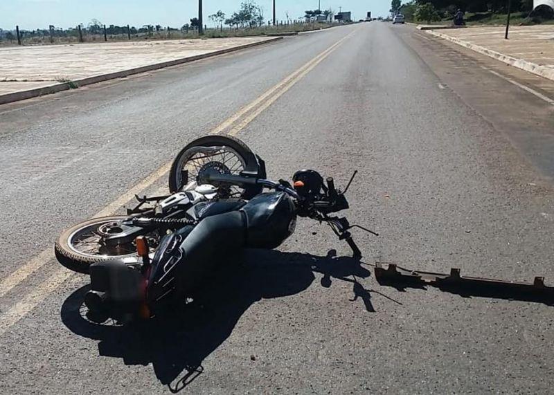 Motociclista morre ao ser atingida por carro na RO-383 em Cacoal, RO