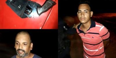 NO CARRO: Equipes da PM são acionadas para roubo em andamento e dupla é presa armada