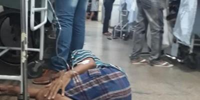Paciente é flagrado sendo medicado no chão do Hospital João Paulo II, em RO