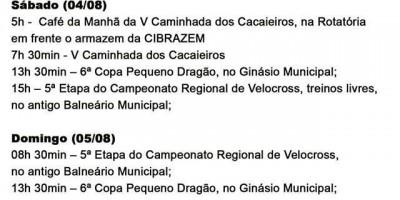 Prefeitura de Rolim de Moura divulga programação de aniversário da cidade