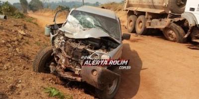Nova Brasilândia – Duas vítimas são socorridas ao hospital após colisão frontal...