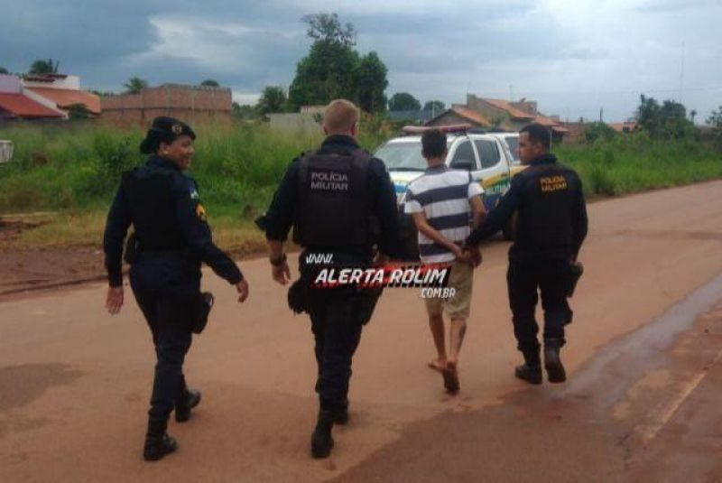 Rolim de Moura – Após denúncia anônima, suspeitos são detidos pela PM com produtos possivelmente furtados