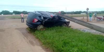 ARIQUEMES: Mulher é presa após colidir carro com bebê de 8 meses em poste na BR-364