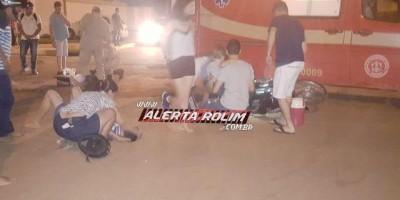 Rolim de Moura - Após colisão resultando em duas vítimas, condutor de carro deixa o...