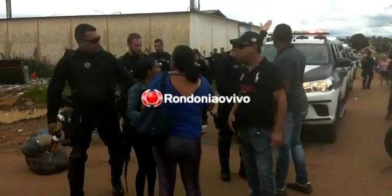 CONFRONTO: Gape usa gás de pimenta para dispersar familiares de presos