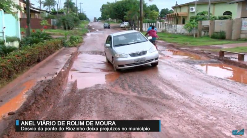 Desvio da ponte do Riozinho deixa prejuízo em Rolim de Moura