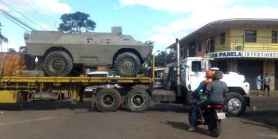 MILITARES: Maduro manda tanques para a fronteira da Venezuela com o Brasil