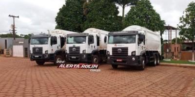 Rolim de Moura – Baterias de caminhões de coleta de lixo são furtadas