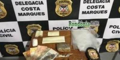 Costa Marques-Polícia Civil e SEVIC prendem agente penitenciário por trafico de drogas